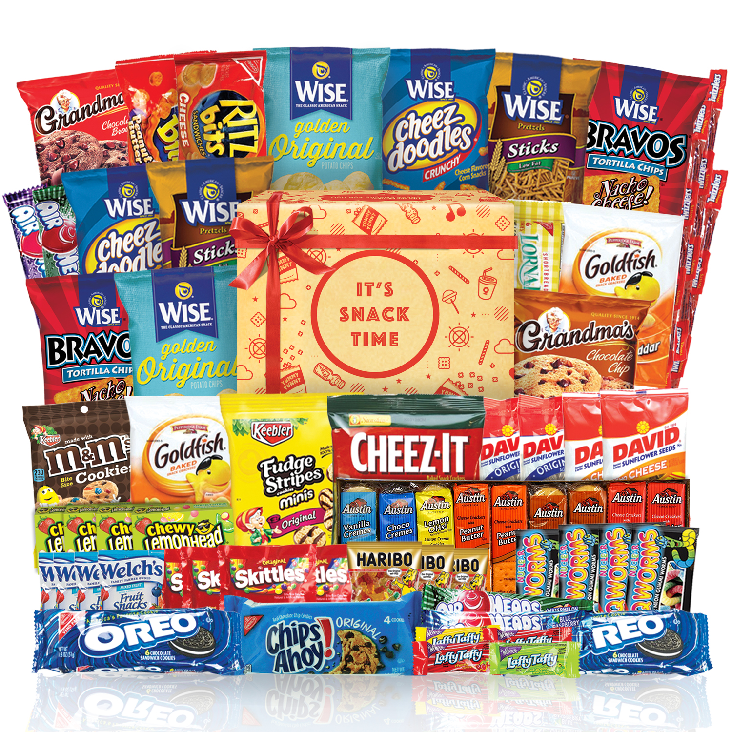 Snack Chips Gift Set Party Box Bundle Care Package 60 Count