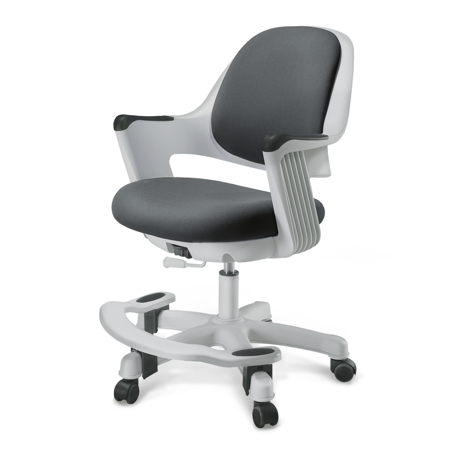SitRite Children Chair Gray Grayscale image