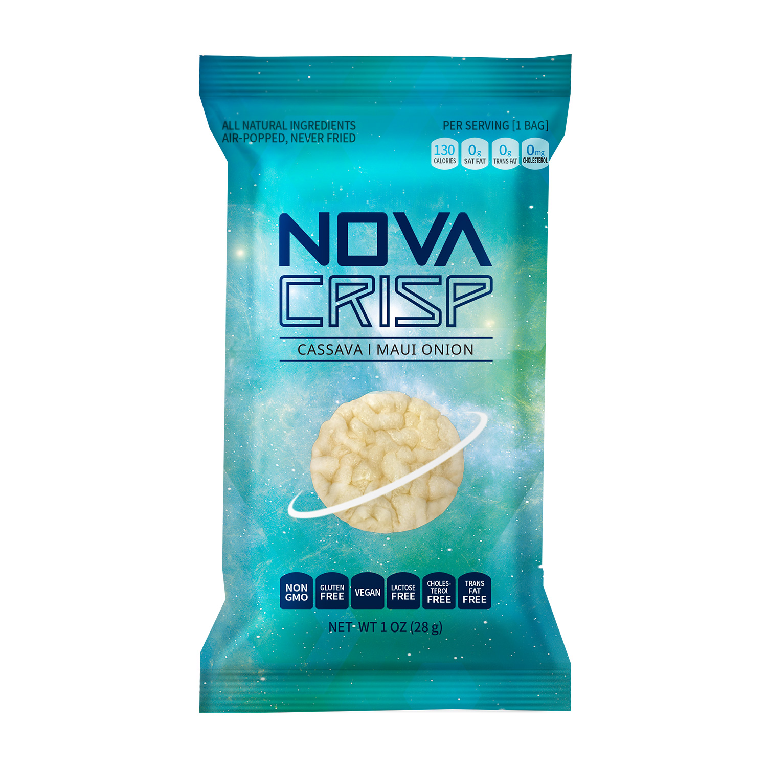 Novacrisp cassava chips maui onion 4oz