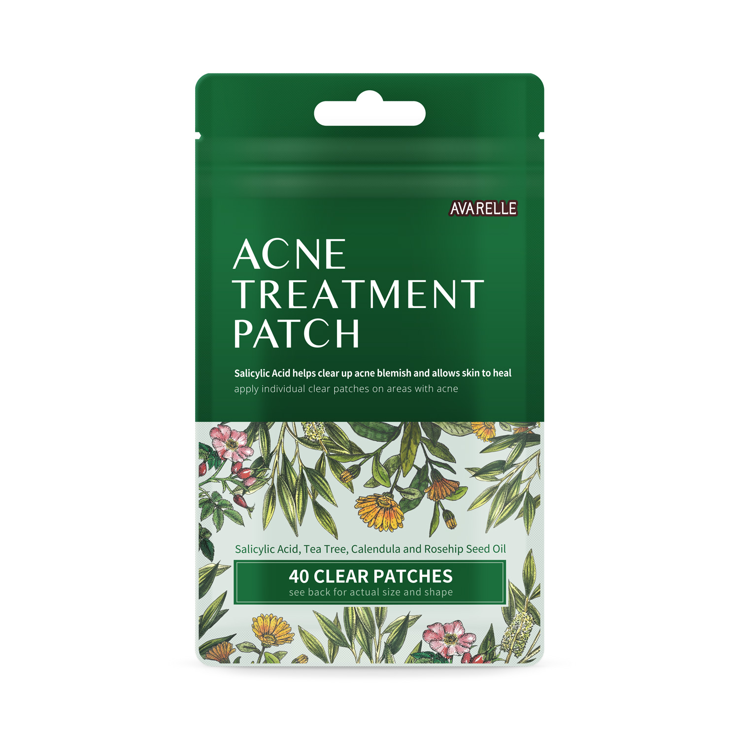 Acne Treatment Patch Grayscale image