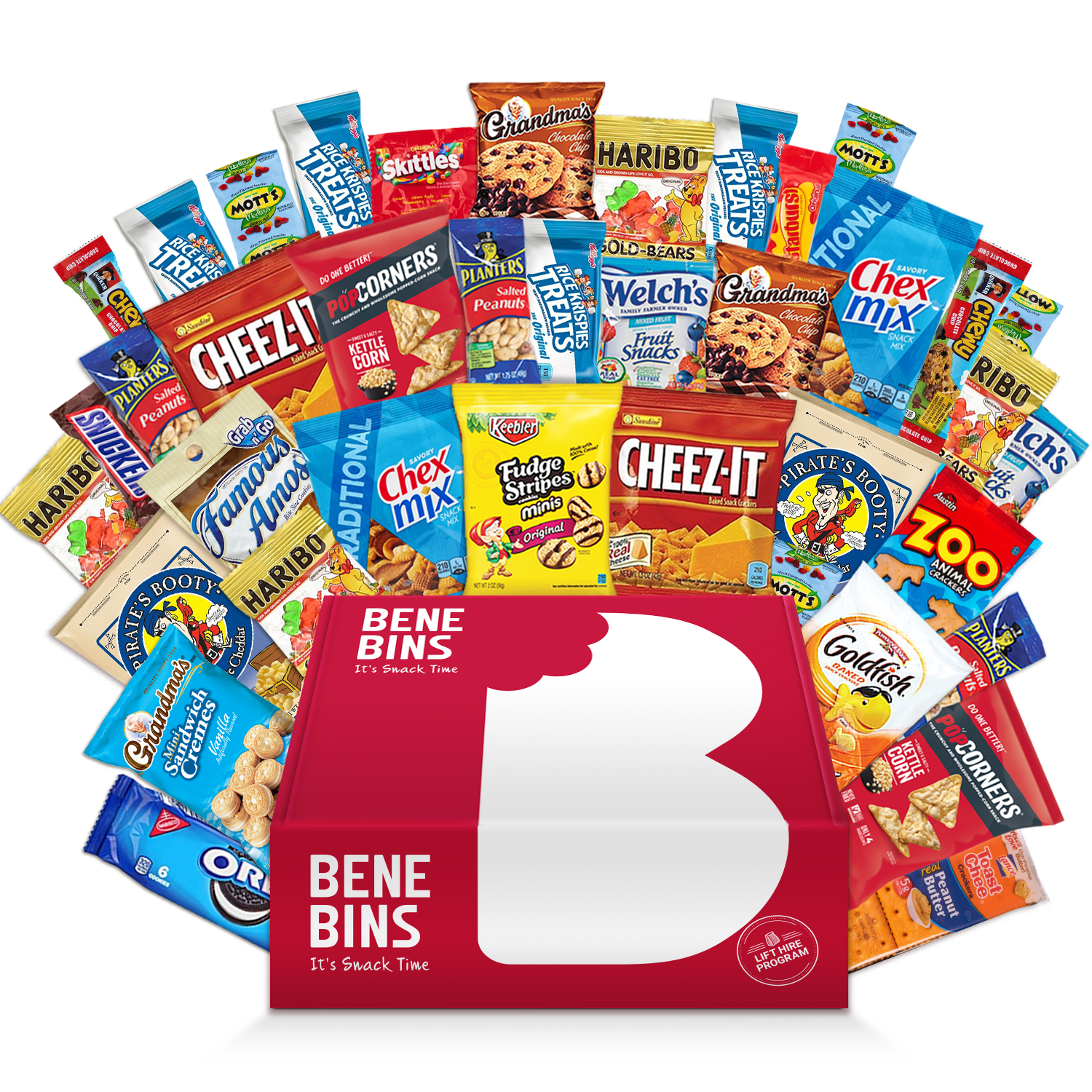 Party Snack Gift Bundle Care Package 40 Count