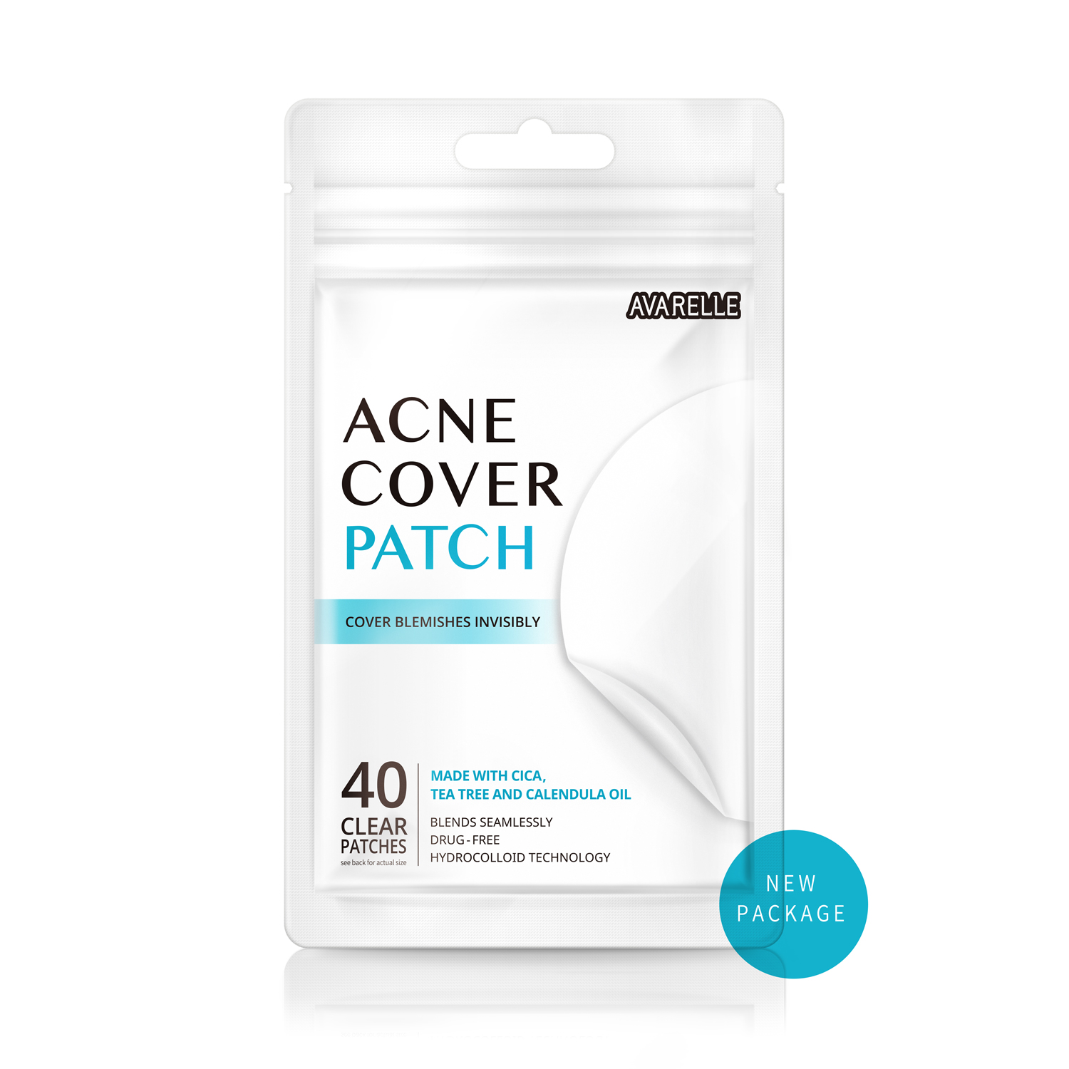 Acne Pimple Patch Absorbing Cover Blemish  Grayscale image